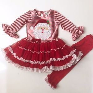 Girls Rare Editions Red Santa Tutu Outfit 2T